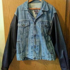 Vintage Harley Davidson Jean and Leather Jacket L